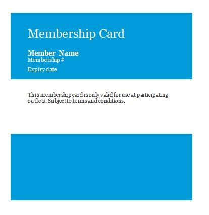 Membership Card Templates 01