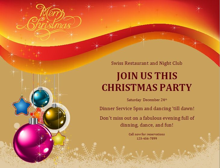 Free Christmas Party Invitation Flyer Template 01