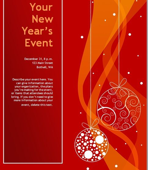 Free Christmas Party Invitation Flyer Template 03