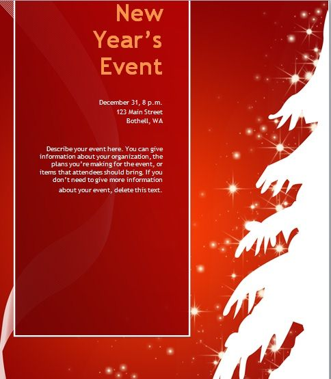 Free Christmas Party Invitation Flyer Template 06