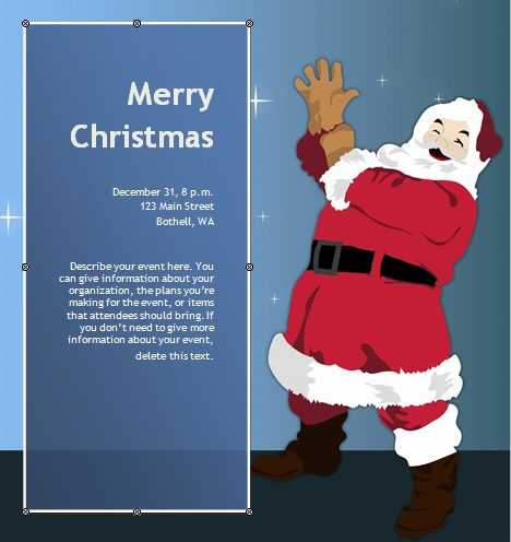 Free Christmas Party Invitation Flyer Template 09
