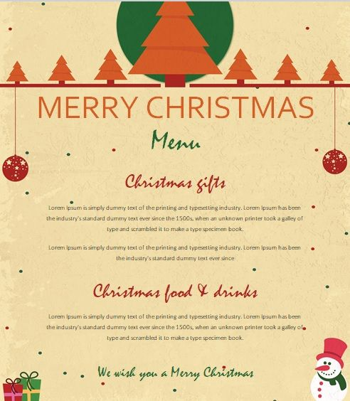 Free Christmas Party Invitation Flyer Template 10