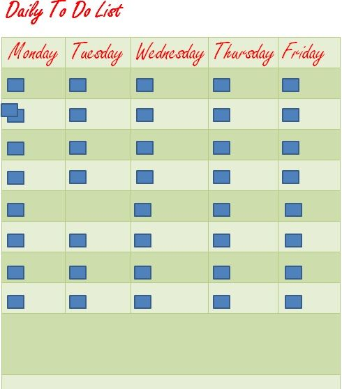 Daily Task List Template 01
