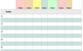 Task List Templates Best Office Files