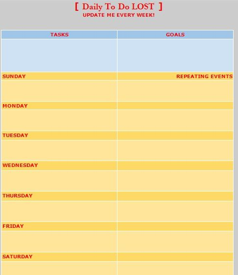 Daily Task List Template 08