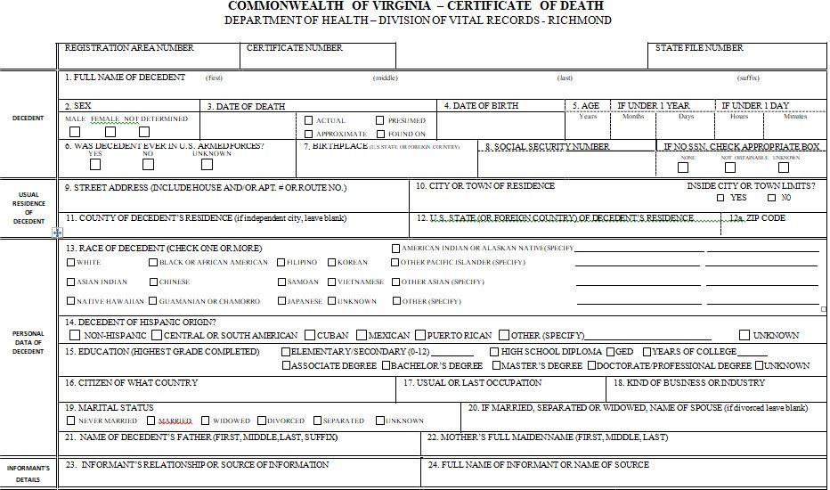 Death Certificate Template 04