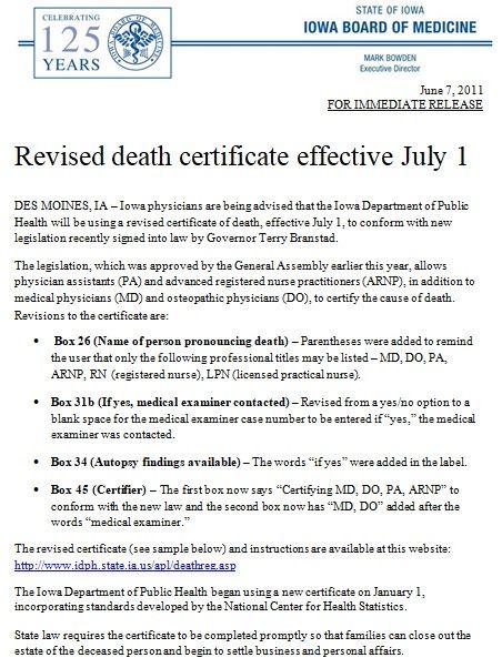 Death Certificate Template 05