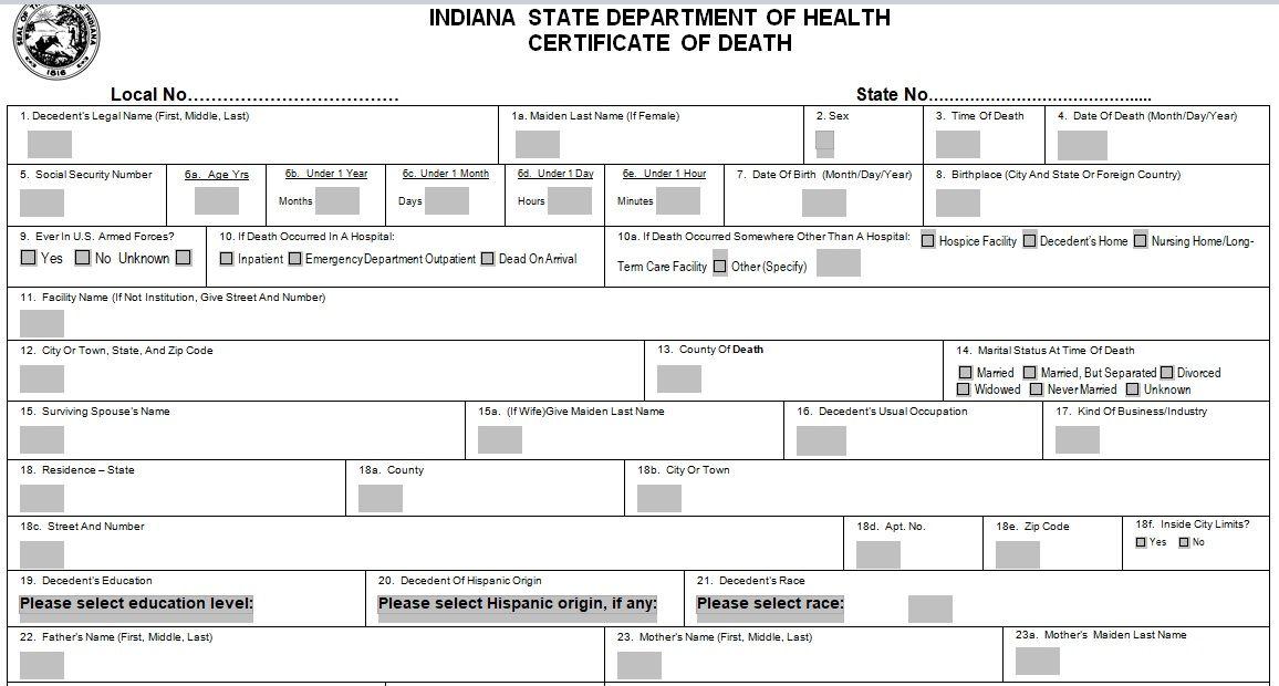 Death Certificate Template 08