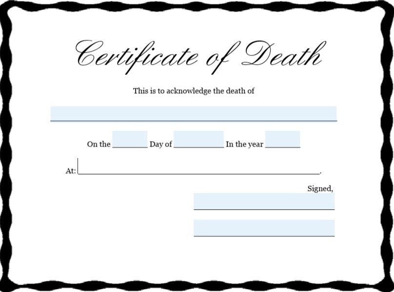 Death Certificate Template 10