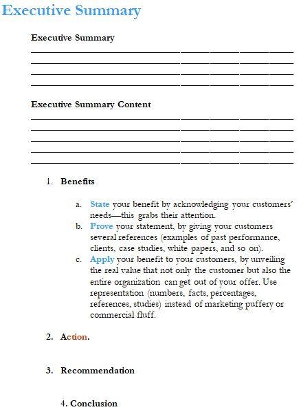 Executive Summary Template 07