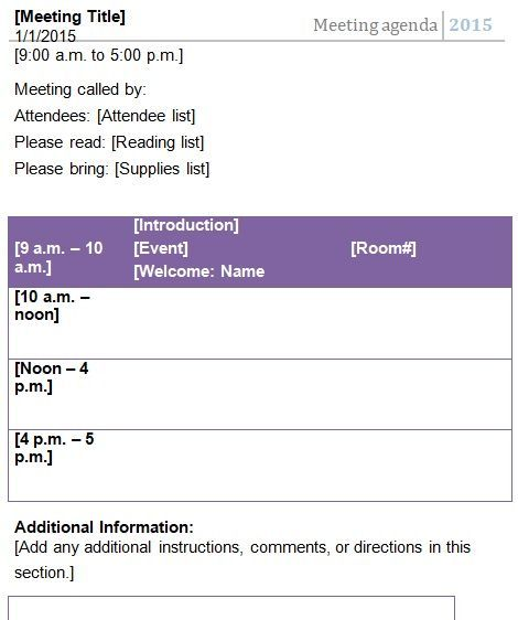 10 Free Meeting Agenda Templates Best Office Files