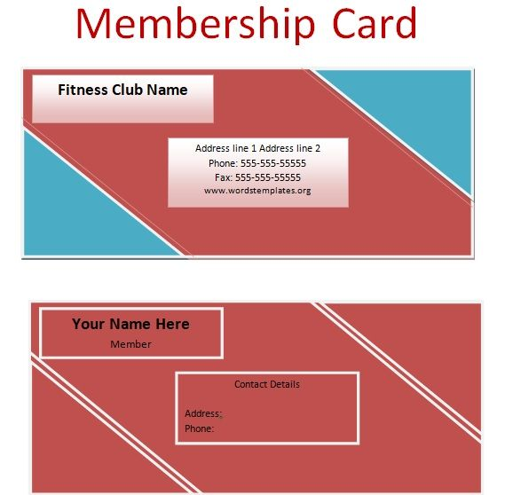 Membership Card Templates 06