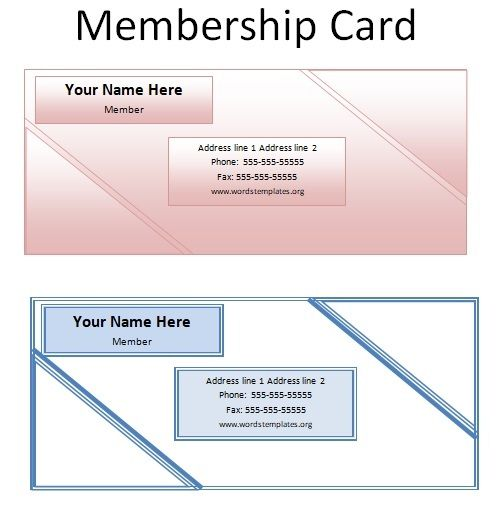 Membership Card Templates 07