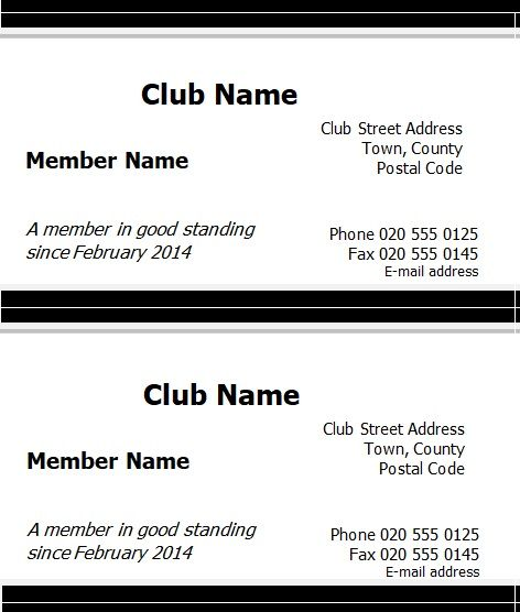 Membership Card Templates 09