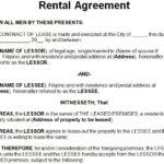 11 Free Rental Agreement Templates
