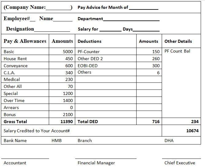 Salary Slip Template 05