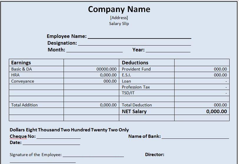 Salary Slip Template 07