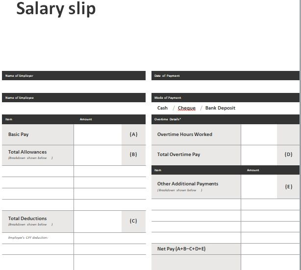Salary Slip Template 10