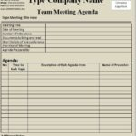 Team Meeting Agenda Templates
