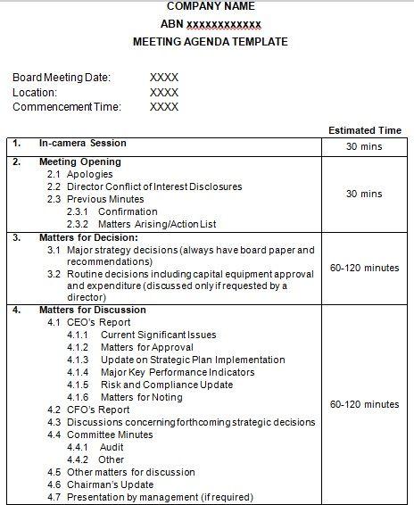 Team Meeting Agenda Templates Best Office Files
