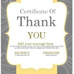 10 Free Thank You Certificate Templates