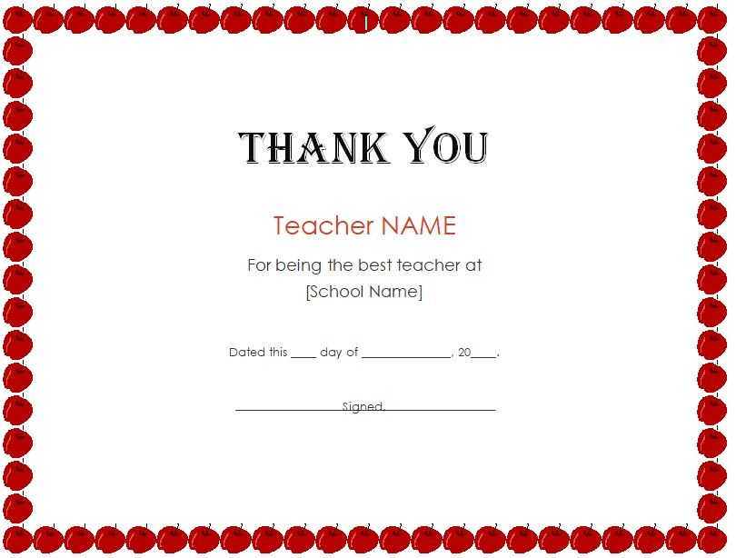 Free Thank You Certificate Template 02