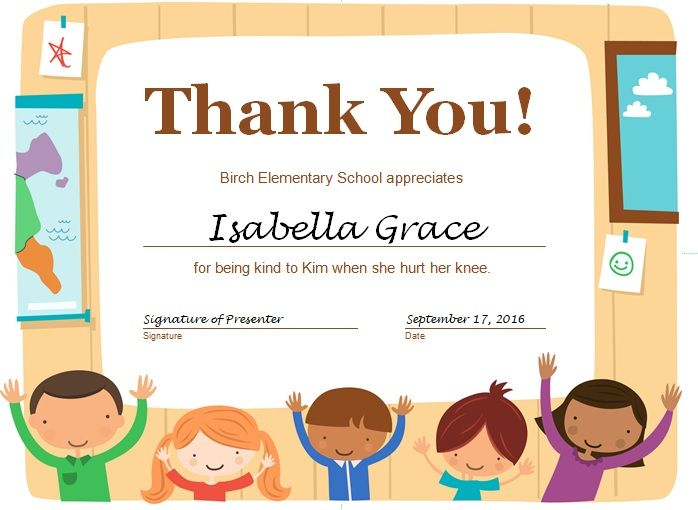 Free Thank You Certificate Template 06