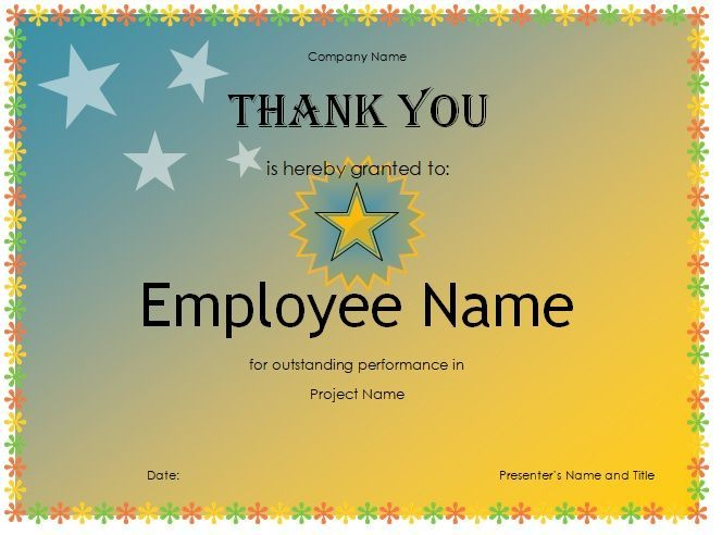 Free Thank You Certificate Template 07