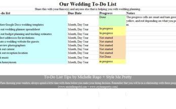 Wedding Guest List Template 06