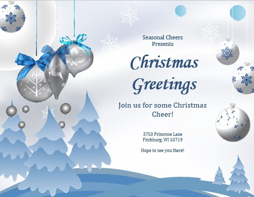 Free Christmas Party Invitation Flyer Template 08