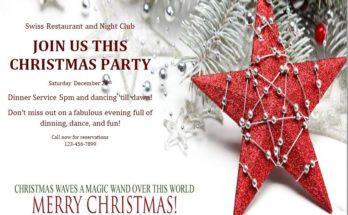 Christmas Invitation Template 09