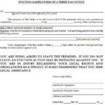 Eviction Notice Form Samples