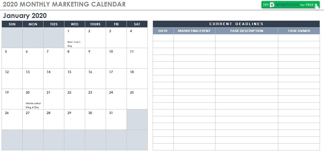 Monthly Calendar Schedule Template 04