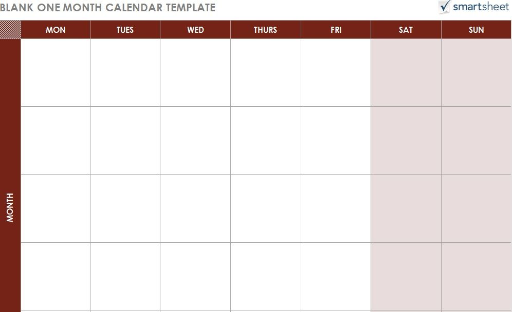 Monthly Calendar Schedule Template 07