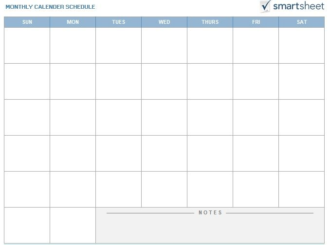 Monthly Calendar Schedule Template 10