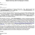 Sample Internship Letter from Employer to Internee