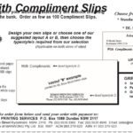 10 Free With Compliments Slip Templates
