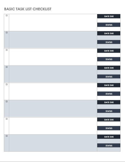 Daily Task List Template 10