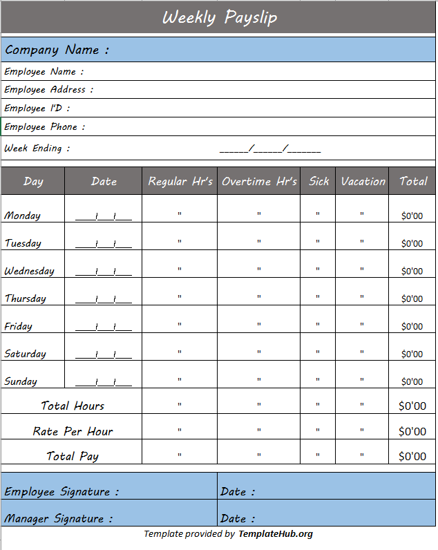 Salary slip template 04