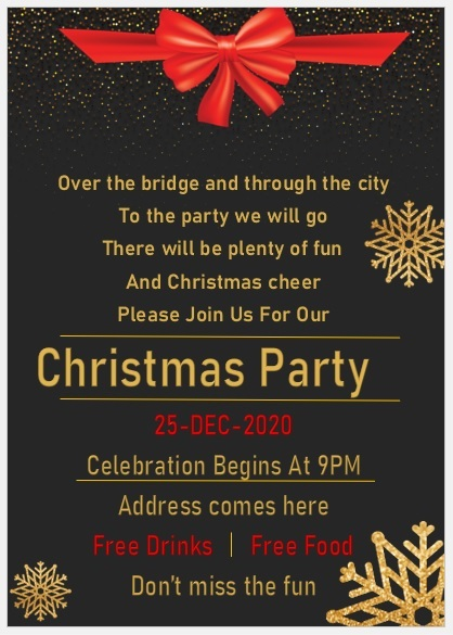 Christmas Party Invitation Flyer Template 11