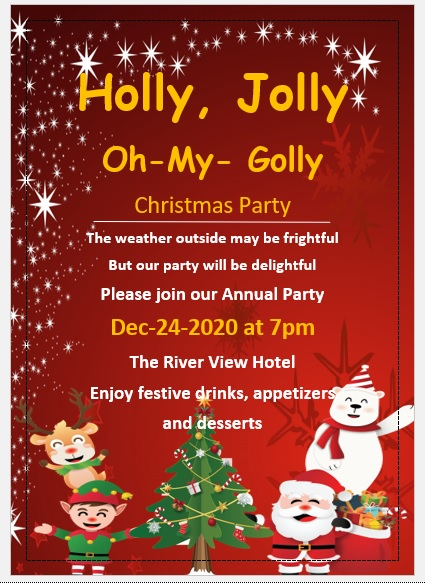 Christmas Party Invitation Flyer Template 12