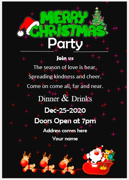 Christmas Party Invitation Flyer Template 13