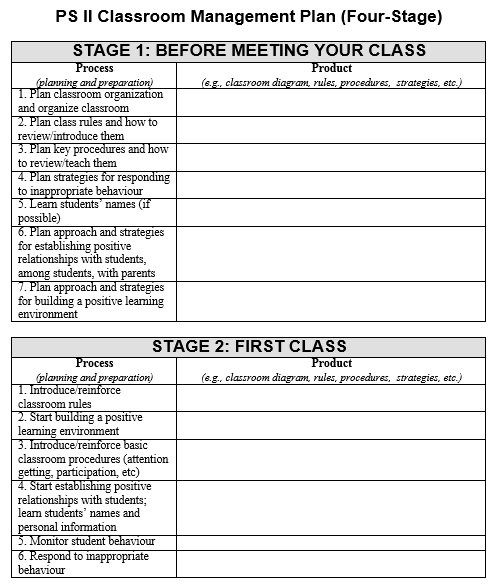 Classroom Management Plan Template 03
