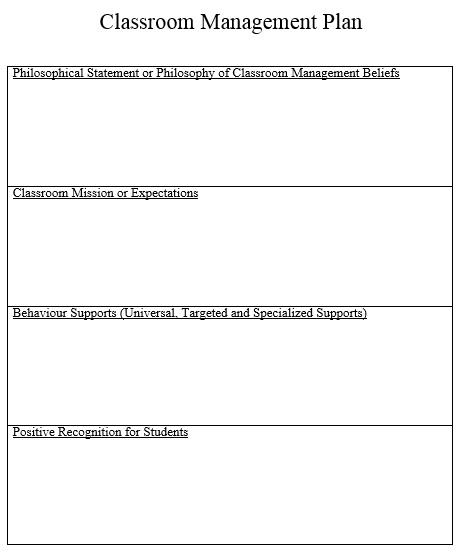 Classroom Management Plan Template 08