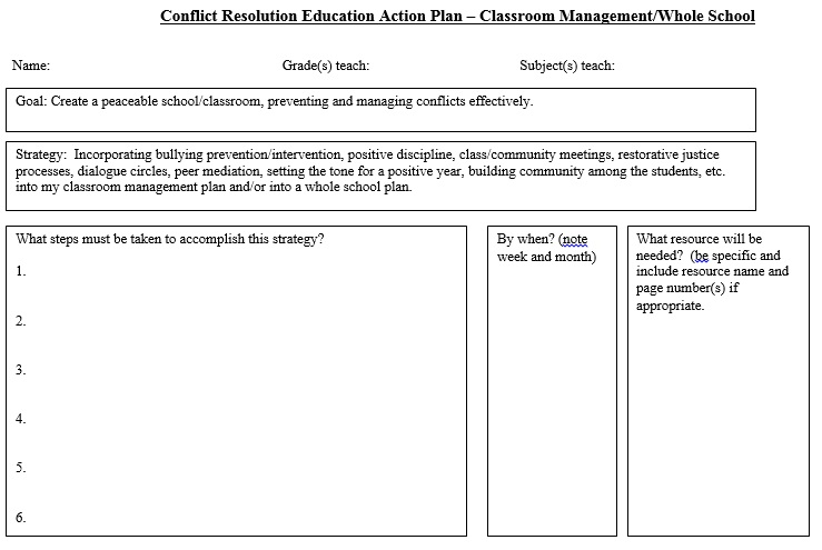 Classroom Management Plan Template 09