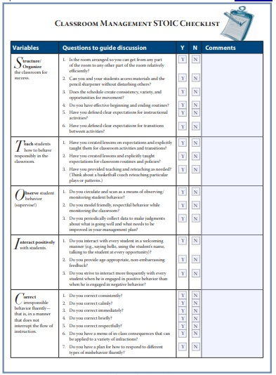 Classroom Management Plan Template 10