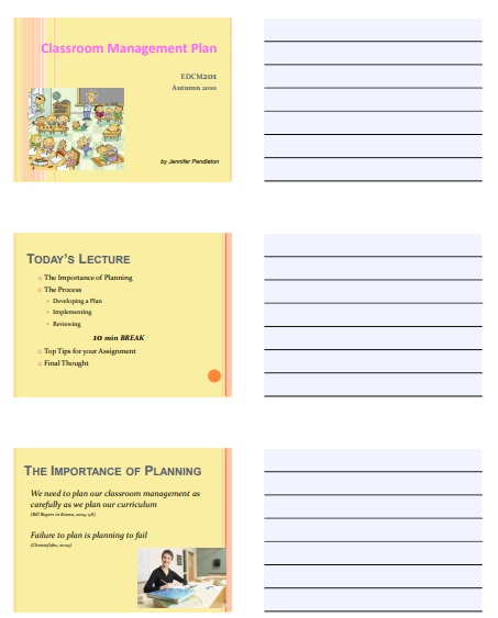 Classroom Management Plan Template 13