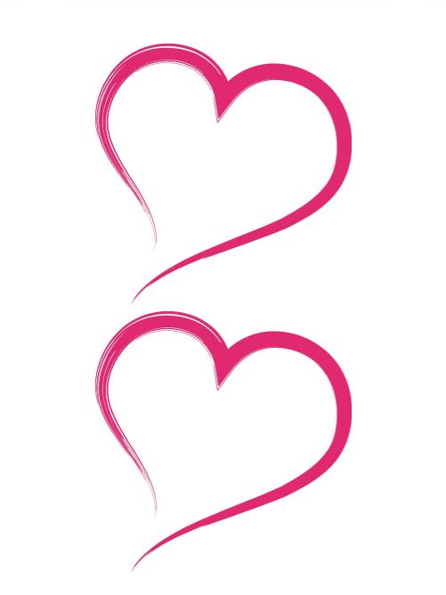 Heart Shape Template 08