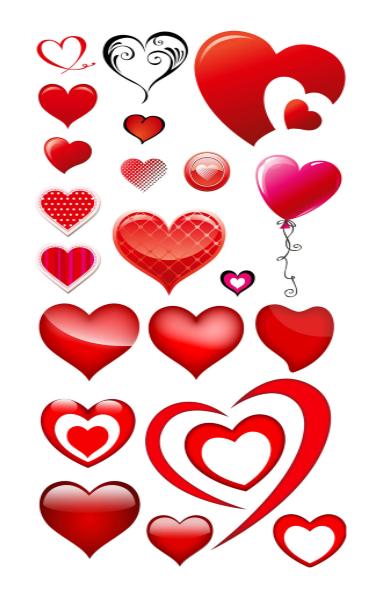 Heart Shape Template 12