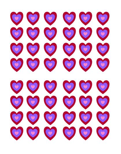 Heart Shape Template 15